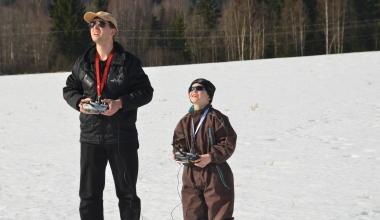 Bilde av elev og instruktør